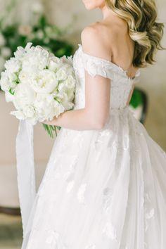 Wedding Dress: Kleinfeld Bridal - http://www.stylemepretty.com/portfolio/kleinfeld Floral Design: Reynolds - http://www.stylemepretty.com/portfolio/reynolds Photography: Love & Light Photographs - www.loveandlightphotographs.com   Read More on SMP: http://www.stylemepretty.com/2016/10/11/blogger-bride-jess-galfo-wedding-part-ii/