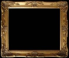 wood picture frame ornate antique gold 24 x 36 13