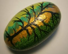 Painted rock - Tree
