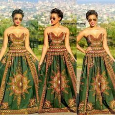 Gorgeous Maxi dress from the African Shop on fb African Inspired Fashion, African Print Fashion, Africa Fashion, African Prints, African Attire, African Wear, African Dress, African Style, African Beauty