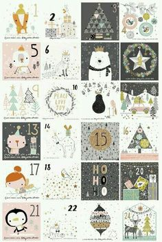 Illustrated Advent Calendar by dottywrenstudio Christmas Countdown, Noel Christmas, Winter Christmas, Christmas Crafts, Christmas Decorations, Xmas, Christmas Tables, Nordic Christmas, Modern Christmas