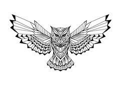 # - Land of Tattoos Owl Tattoo Drawings, Tattoo Sketches, Owl Tattoo Design, Tattoo Designs Men, Geometric Tattoos Men, Nautical Tattoos, Cherub Tattoo, Witch Tattoo, Chest Piece Tattoos