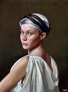 William Whitaker, oil on canvas {contemporary figurative realism art female head… Portrait Art, Portraits, Portrait Paintings, Face Proportions, Image Blog, Feminine Mystique, Realism Art, Figurative Art, Female Art