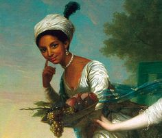 Dido Elizabeth Belle was the illegitimate daughter of Admiral Sir John Lindsay and enslaved African woman named Belle.  This painting (1779) was most likely commissioned by her father, the nephew of the Earl of Mansfield, and depicts the beautiful and vivacious Belle alongside her cousin, Elizabeth Murray. oil on canvas Scone Palace, Perth (private collection of the Earl of Mansfield)