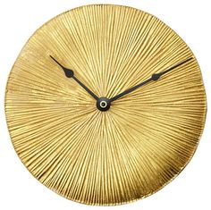 Gold-Leaf Wall Clock eclectic-clocks