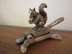Rare Antique Squirrel Nutcracker marked Pawnee Post Kansas www.rubylane.com