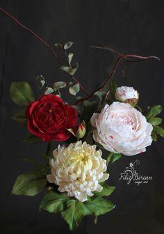 Sugar Flowers Bouquet <3 by Filiz Bircan Sugar Art