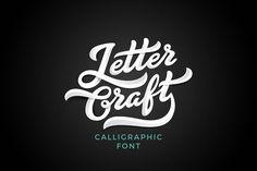 Letter Craft font by Sentavio on @creativemarket