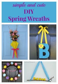 These simple Spring Wreaths are easy and inexpensive to make, and they are totally adorable. There is even a Spring wreath for kids to make on this website. Nerf Party, Race Car Party, Spy Party, Party Games, Bunny Crafts, Easter Crafts, Crafts For Kids, Bouncy Egg, Tissue Paper Wreaths