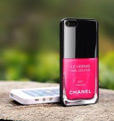 ENFIN, la coque Iphone qu'il me faut !  Coque iPhone vernis Chanel Etsy