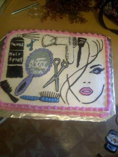 Original Pinner States:  Beautician cake. So awesome. I didnt ever get a graduation party, maybe I can get a congrats party when I get my license???