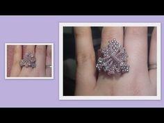 Caterpillar Ring with Tila beads Beading Tutorial by HoneyBeads (Video tutorial) - YouTube