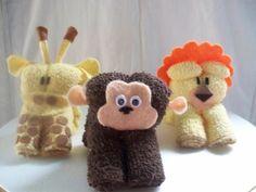 Figuras de animalitos en toalla - Imagui