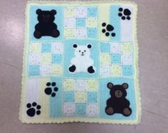 Crochet baby blanket pattern instant download pdf - teddy bears and bear paws applique - teddy bear blanket tutorial - baby blanket pattern