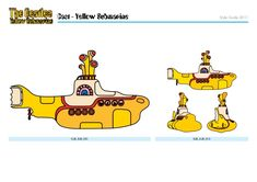Yellow submarine styleguide - Cake Decorating Writing Ideen Yellow Submarine Cake, Stencil Street Art, Octopus Decor, I Am The Walrus, Yellow Cat, Psychedelic Art, Bart Simpson, The Beatles, Style Guides