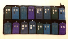 TARDIS Doctor Who Pencil or Cosmetics Case by FangirlBoutique2014