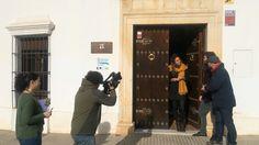 Grabando todo el día un reportaje para canal Extremadura con Carmen goga #escultora de ribera y juanfrancisco llanos.