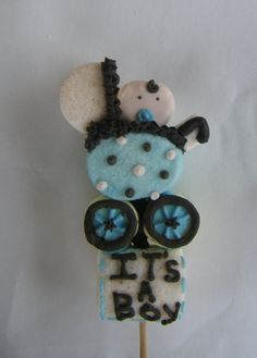 Marshmallow pop for baby shower