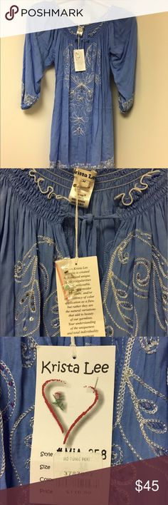 Gorgeous swim cover up Beautifully embroidered and beaded swim cover up. Krista Lee Swim Coverups