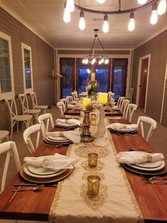We made 8 tables for this beautiful wedding venue, Grayson Green in Van Alystyne, Texas.  The tables are stained in Varthane Golden Mahogany.