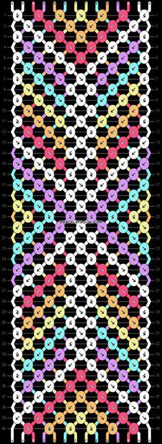 Normal friendship bracelet pattern added by catelynnn. Handmade Friendship Bracelets, Friendship Bracelet Patterns, Macrame Bracelets, Bracelet Designs, Fun Crafts, Beads, Knots, Vsco, Diys