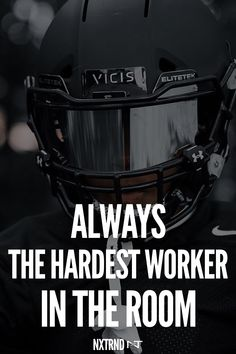 Always be the hardest worker in the room. #FootballQuotes #SportQuotes #Motivation #Inspiration #Football #Nxtrnd #Training Best Football Quotes, Football Is Life, Motivational Quotes For Athletes, Hard Workers, Mouth Guard, Sport Quotes, Motivation Inspiration, Life Quotes, Training
