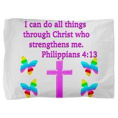 http://www.cafepress.com/heavenlyblessings/12252177 #Philippians 413 #LettertoPhilippians #Philippians4quote #Philippians4gift #Icandoallthings #ThroughChristwhostrengthensme