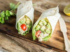 Schnelle Tuna-Rolle: Wraps mit Thunfisch-Avocado-Creme
