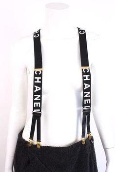 chanel suspenders. iconic vintage chanel suspenders chanel l