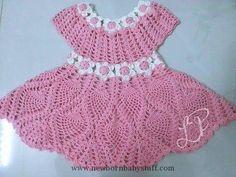 Crochet Baby Dress Crochet dress| How to crochet an easy shell stitch baby &amp...