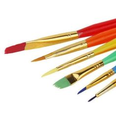 6 PC Decorating Paint Brushes for Cakes and Crafts