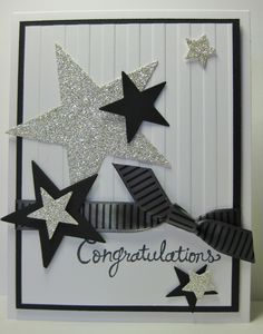 STARS, Stars & more Stars - SU - Happy Congratulations - cased from a Mary Brown card (by Barb Mann)