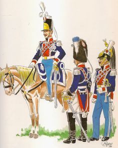 Regno di Isabella II. Guardias de la Real Persona. 1835-1843 Army Uniform, Military Uniforms, Army & Navy, Military History, 19th Century, Spanish, Empire, War, Vintage Wardrobe