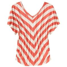 Old Navy Womens Chevron-Stripe Dolman Sleeve Tees ($22) ❤ liked on Polyvore featuring tops, t-shirts, shirts, blusas, women, v neck tee, shirred t shirt, v neck shirt, tee-shirt and chevron shirt