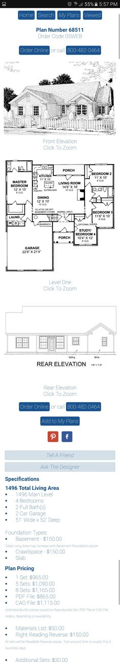 4 bedroom house plan under 1500 sq ft