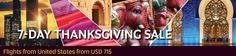 Celebrate Thanksgiving with our 7-Day Thanksgiving Sale. Discover Abu Dhabi, India, Asia and beyond with amazing discount in Economy and Business Class. Sale is valid until 29 November, 2016.