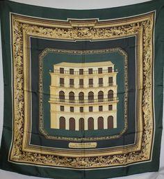 "HERMES 100% Silk Scarf ""Maison Doree"" 1976 Rybaltchenko 90cm #Hermes #Scarf"