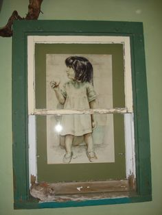 Re-purposed materials used - Old farm house window.