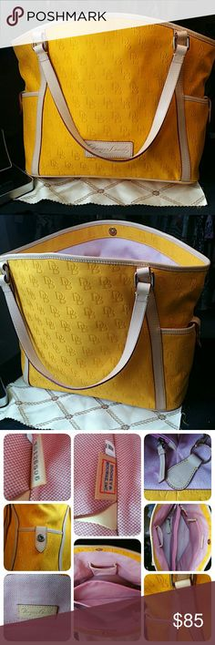 Authentic Dooney&Bourke Mint Condition Mint Condition. This mellow yellow tote is in excellent condition. Just like new. No rips,stains, or blemishes. Looks new and smells new. Dooney & Bourke Bags Totes