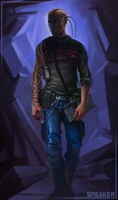 Cyberpunk, Retro-Future, Sneaker - Shadowrun by hunqwert on deviantART