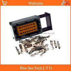 24 Pin/way female car oil-modified gas computer board CNG connector,Auto ECU plug for VW Audi BMW Toyota etc.Grey