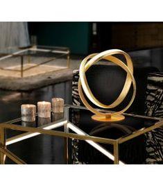 Comprar online Lámpara LED de sobremesa modelo LAZAS Oro Luz Led, Mirror, Tan Solo, Design, Home Decor, Products, Diffuser, Steel Table, Table Lamps