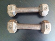 vintage barbells on etsy find them at prairie treasures