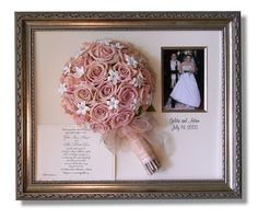 Freeze Dried Bouquet Framed