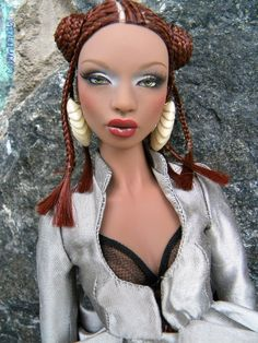 fuckyeahdollsofcolor: Close Up Stratus by Mel Beautiful Barbie Dolls, Pretty Dolls, Bad Barbie, Barbie Style, Human Doll, Barbie Images, Doll Makeup, Valley Of The Dolls, Barbie Accessories