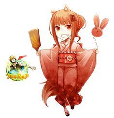 Render Animes et Manga - Renders Chibi Holo Yukata ♦ Ookami to Koushinryou / Spice and & Wolf