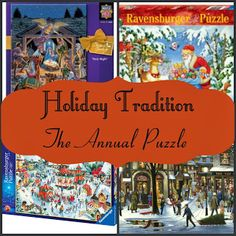 Holiday Puzzle Tradition {and puzzle suggestions} Each year we choose a holiday puzzle to complete together over the holiday season.