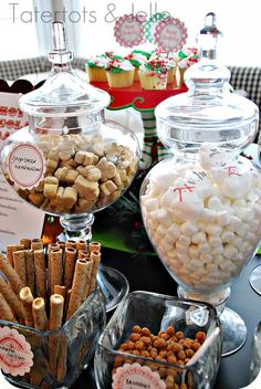 Hot Chocolate Bar - with link to cute tag printables