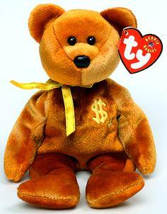 Billionaire 4 - bear - Ty Beanie Babies