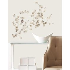 Silver Dollar Branch Add On Peel & Stick Wall Decals - RMK2152SCS